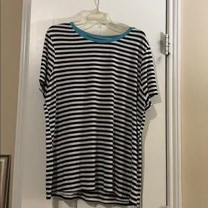 EUC Lane Bryant Striped Sweater Tee